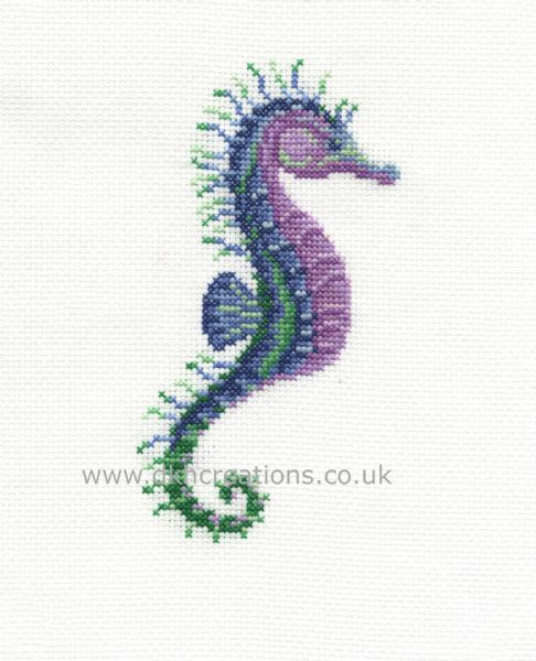 Stately Seahorse Hoop Cross Stitch Kit